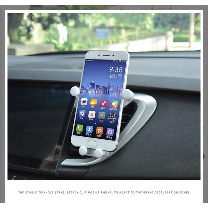 Cute Panda Car Air Vent Universal Mobile Phone Holder Stand Mount - Grey