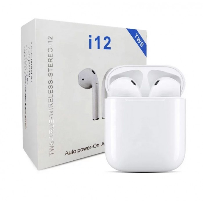 TWS 5.0 True Wireless Stereo Earbuds i12 i12s Touch Earphones Waterproof Headset Sport Headphone with Charger Box