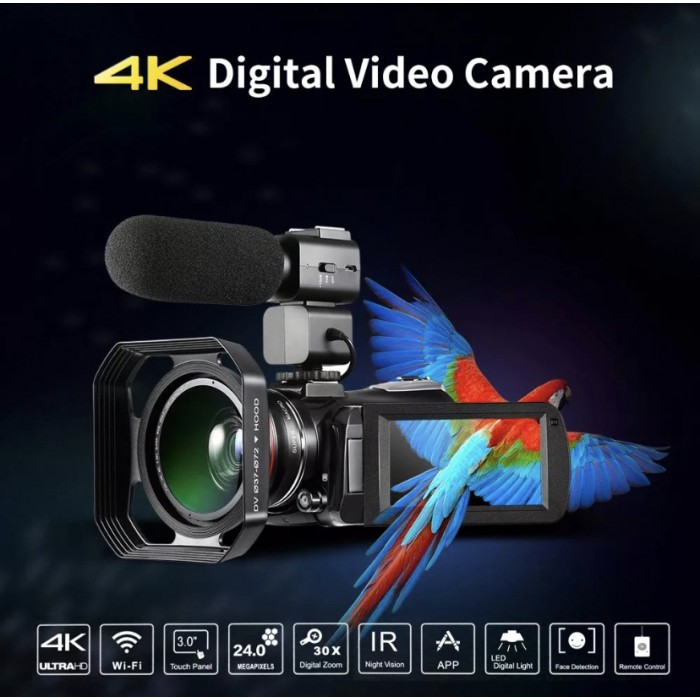 Professional video camcorder HDV 4k camera cheap digital video camera with IR Night Vision