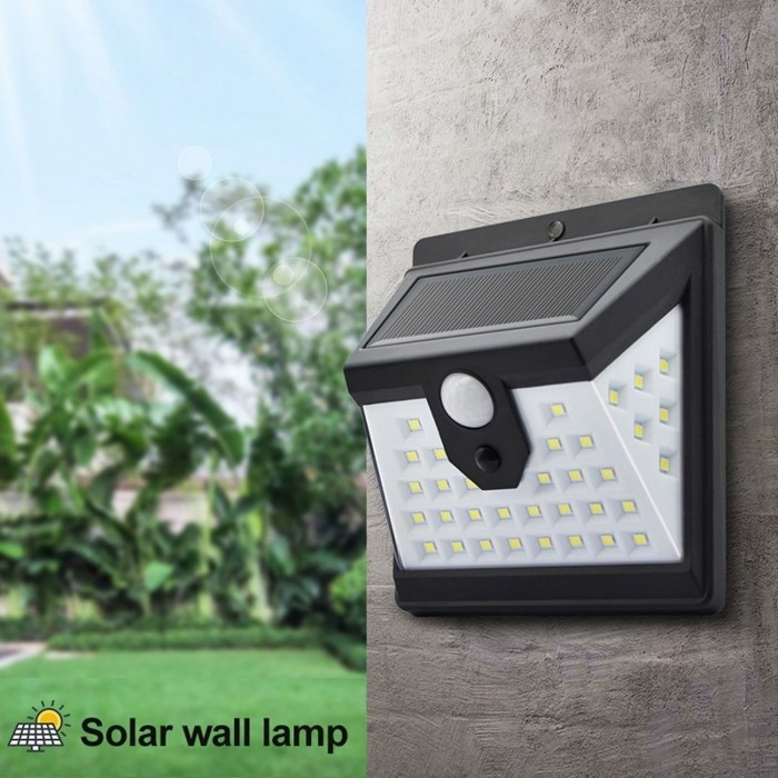 40-LED Garden Lamp Human Induction Light Outdoor Solar Motion Sensor Wall Light