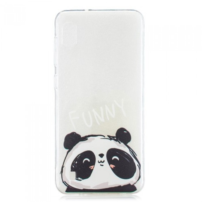 Pattern Printing TPU Case for Samsung Galaxy A10 - Funny Panda
