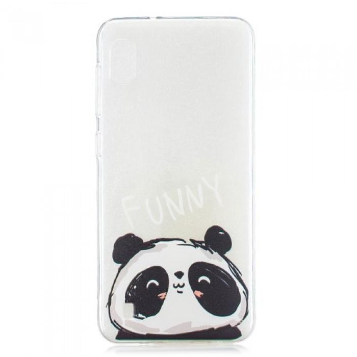 Pattern Printing TPU Case for Samsung Galaxy A10 - Funny Panda