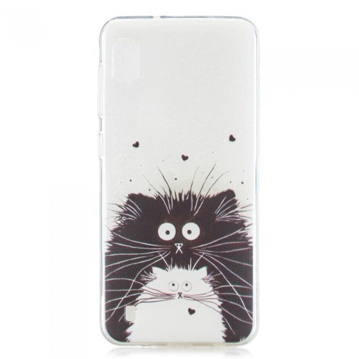Pattern Printing TPU Case for Samsung Galaxy A10 - Two Cats