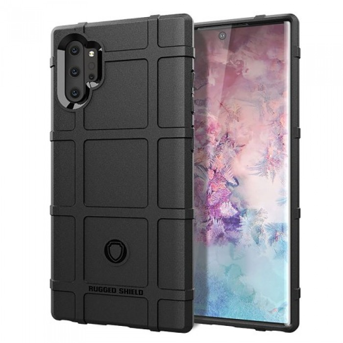 Anti-shock Square Grid Texture TPU Case for Samsung Galaxy Note 10 Plus - Black