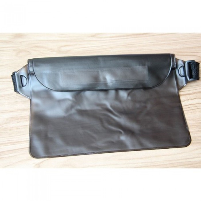 Waterproof Swim Drift Diving Bag Underwater Dry Shoulder Waist Belt Pocket Pouch - Black