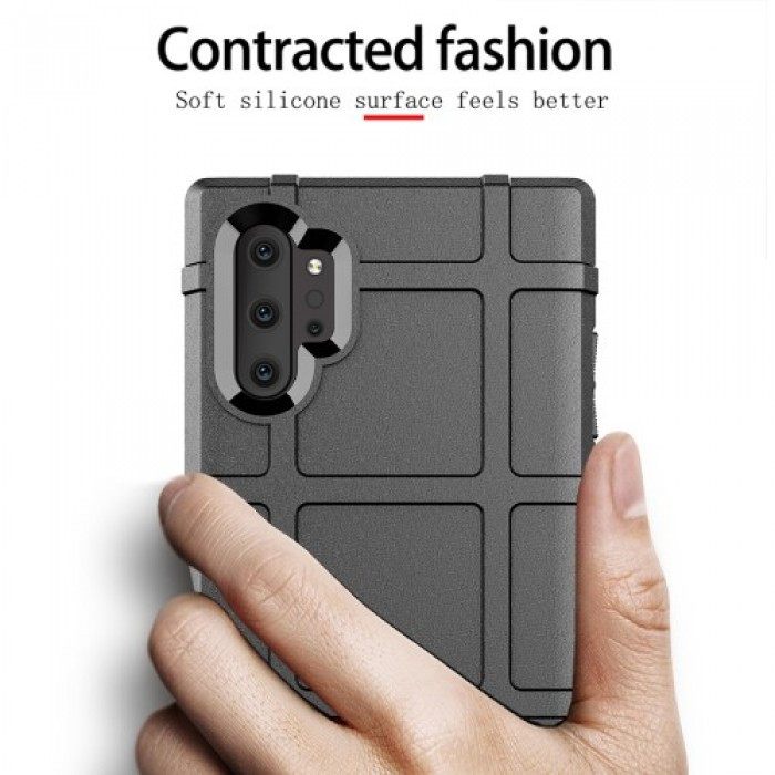 Anti-shock Square Grid Texture TPU Case for Samsung Galaxy Note 10 Plus - Grey