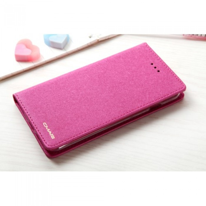 CMAI2 Silk Texture Series Leather Card Holder Phone Accessory Cover for iPhone 8 / 7 4.7 inch - Rose.    Free Delivery