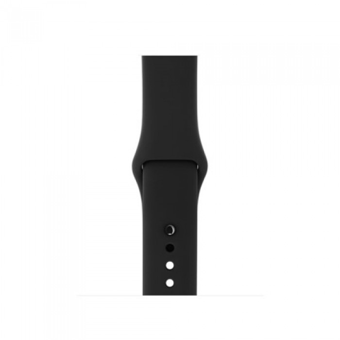 Silicone Wrist Strap Replacement for Apple Watch Series 5 4 40mm / Series 3 2 1 38mm (Standard Length) - Style A.    Free Delivery