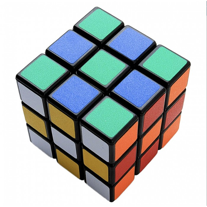 Rubix Cube Puzzle Mind Game Toy Classic Cube - Black Ground