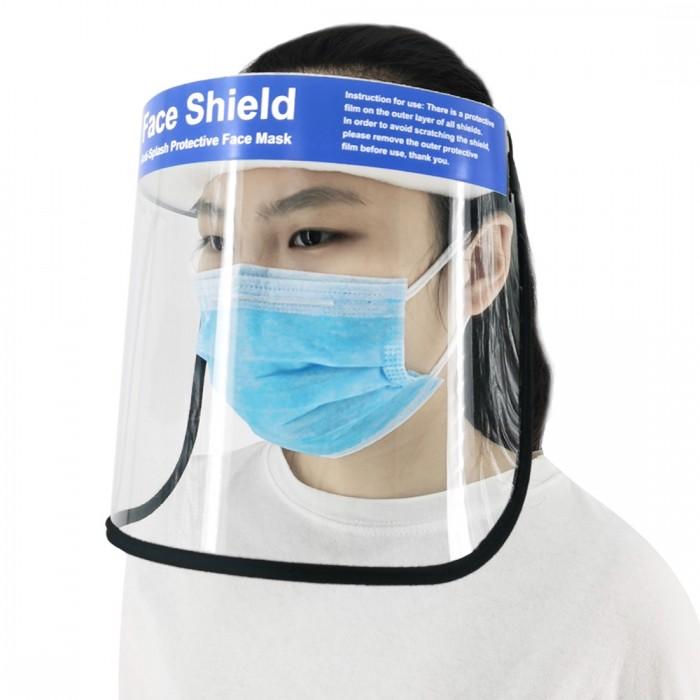 Anti-splash Protective Face Mask HD Transparent PVC Face Shield