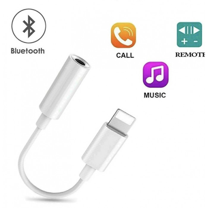 8 Pin Lightning to 3.5mm Headphone Bluetooth Jack Audio Adapter 3.5mm Jack to Lightning Connector for iPhone X XS Max
