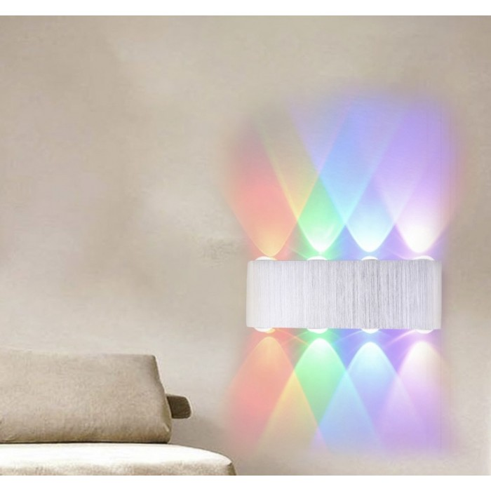 8W LED Wall Lamp Indoor Up Down Lamp Sconce Spot Lamp Home Bedroom Decoration Lamp - Colourful Light
