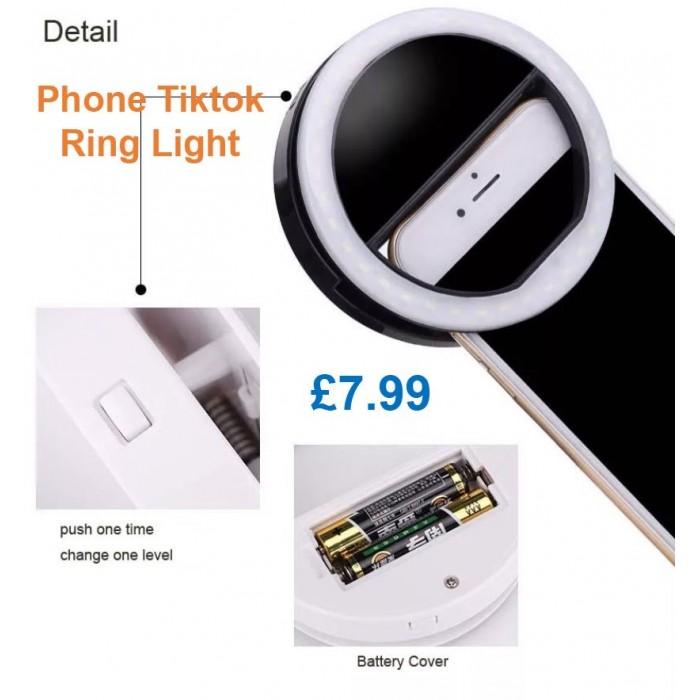 HOT SELLING SELFIE FILL LIGHT PORTABLE BATTERY CELL PHONE SELFIE RING LIGHT