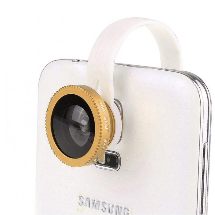LX-C001 Universal Clip Fish Eye Lens 180
